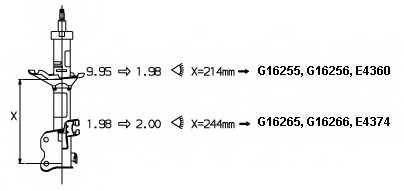 Амортизатор для NISSAN ALMERA(N15) <b>MONROE G16266</b> - изображение