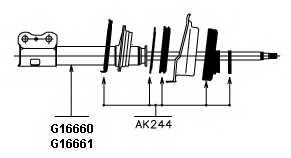 Амортизатор MONROE G16660 - изображение