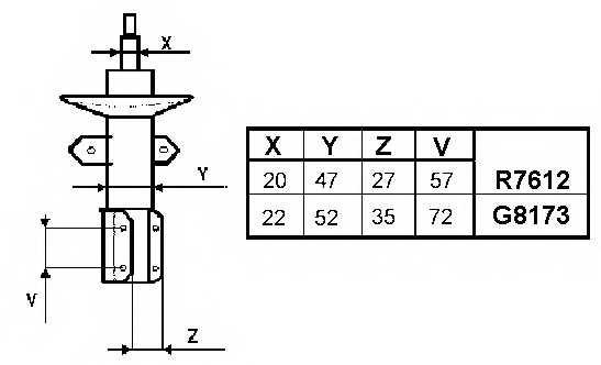 Амортизатор MONROE G8173 - изображение