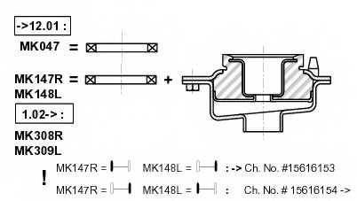 Подшипник опоры стойки амортизатора MONROE MK047 - изображение