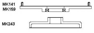 Опора стойки амортизатора MONROE MK159 - изображение 1