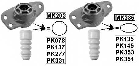 Пылезащитный комплект амортизатора MONROE PK135 - изображение