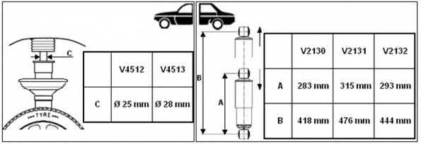 Амортизатор для CITROEN JUMPER / FIAT DUCATO(244,250,290) / PEUGEOT BOXER <b>MONROE V2130</b> - изображение