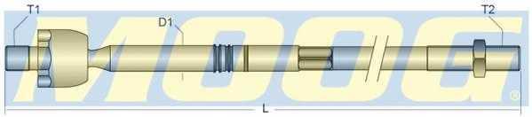 Осевой шарнир рулевой тяги MOOG HO-AX-7910 - изображение 1