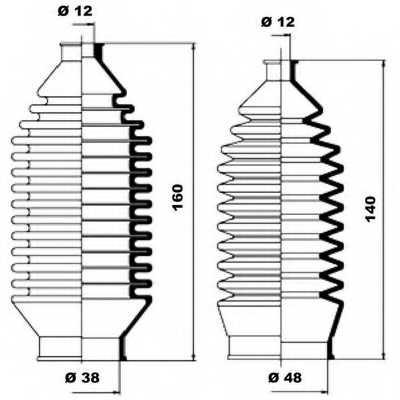 Комплект пылника рулевого управления MOOG K150013 - изображение 1