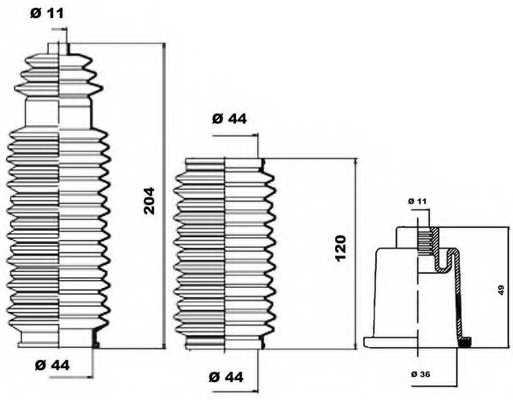 Комплект пылника рулевого управления MOOG K150043 - изображение 1