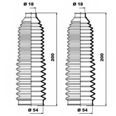 Комплект пылника рулевого управления MOOG K150082 - изображение 1