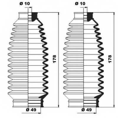 Комплект пылника рулевого управления MOOG K150084 - изображение 1