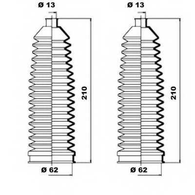 Комплект пылника рулевого управления MOOG K150087 - изображение 1