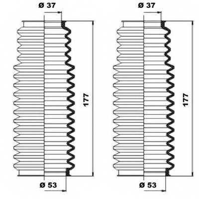 Комплект пылника рулевого управления MOOG K150091 - изображение 1