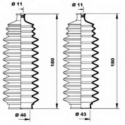 Комплект пылника рулевого управления MOOG K150098 - изображение 1