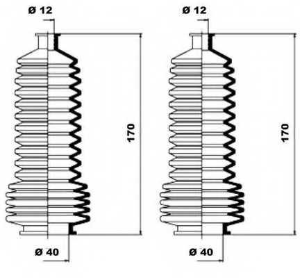 Комплект пылника рулевого управления MOOG K150110 - изображение 1