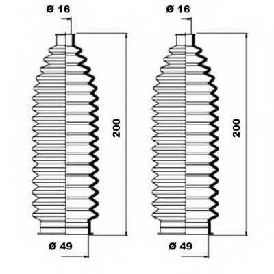 Комплект пылника рулевого управления MOOG K150127 - изображение 1