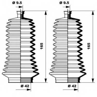 Комплект пылника рулевого управления MOOG K150133 - изображение 1