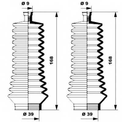 Комплект пылника рулевого управления MOOG K150134 - изображение 1