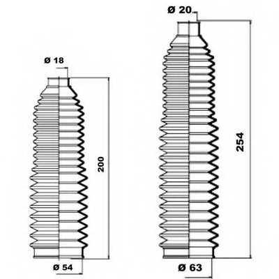 Комплект пылника рулевого управления MOOG K150141 - изображение 1