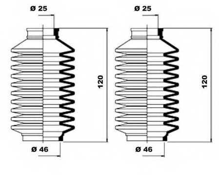 Комплект пылника рулевого управления MOOG K150147 - изображение 1
