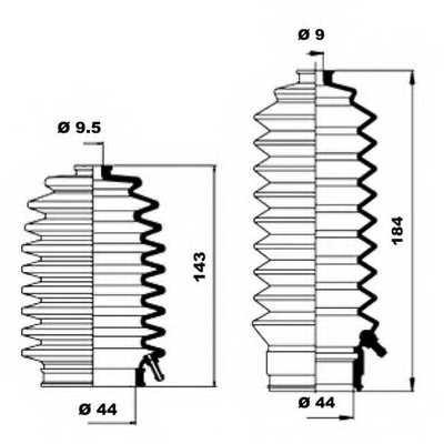 Комплект пылника рулевого управления MOOG K150155 - изображение 1