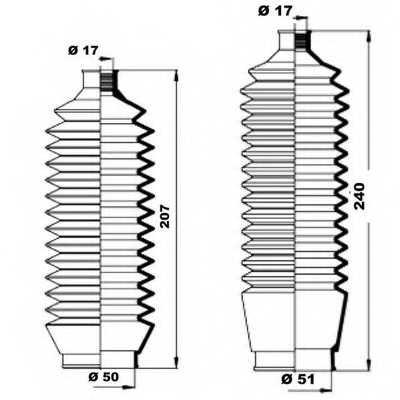 Комплект пылника рулевого управления MOOG K150156 - изображение 1