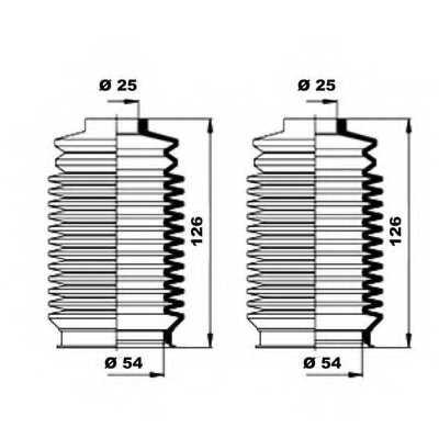 Комплект пылника рулевого управления MOOG K150159 - изображение 1