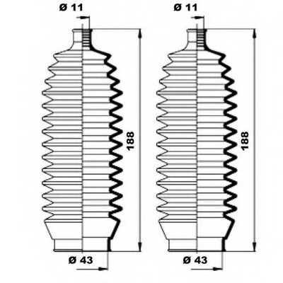 Комплект пылника рулевого управления MOOG K150160 - изображение 1