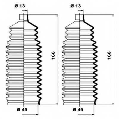 Комплект пылника рулевого управления MOOG K150171 - изображение 1