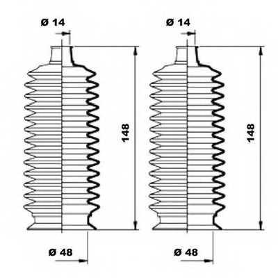 Комплект пылника рулевого управления MOOG K150177 - изображение 1