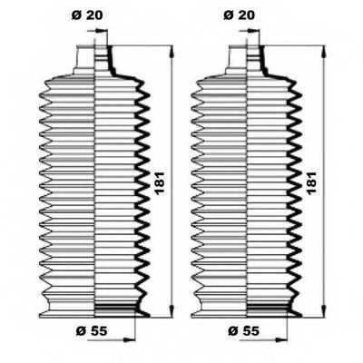 Комплект пылника рулевого управления MOOG K150188 - изображение 1