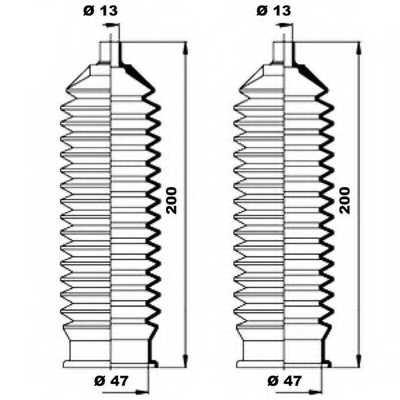 Комплект пылника рулевого управления MOOG K150193 - изображение 1