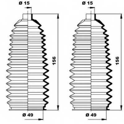 Комплект пылника рулевого управления MOOG K150197 - изображение 1