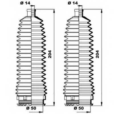 Комплект пылника рулевого управления MOOG K150212 - изображение 1