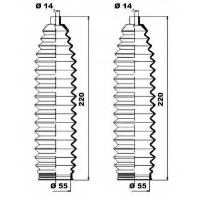 Комплект пылника рулевого управления MOOG K150219 - изображение 1