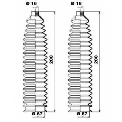 Комплект пылника рулевого управления MOOG K150223 - изображение 1