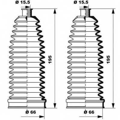Комплект пылника рулевого управления MOOG K150237 - изображение 1