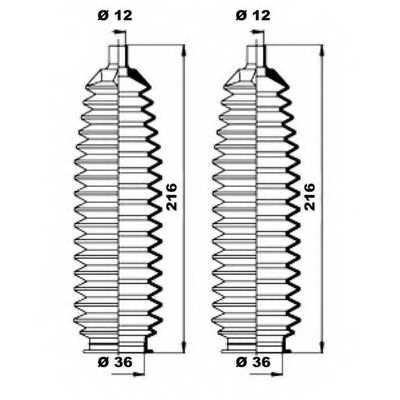 Комплект пылника рулевого управления MOOG K150243 - изображение 1