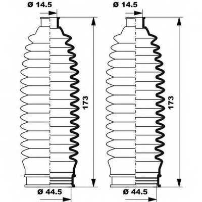 Комплект пылника рулевого управления MOOG K150247 - изображение 1