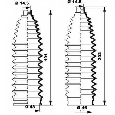 Комплект пылника рулевого управления MOOG K150248 - изображение 1