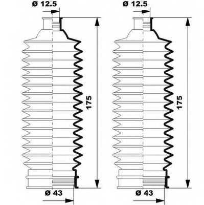 Комплект пылника рулевого управления MOOG K150250 - изображение 1
