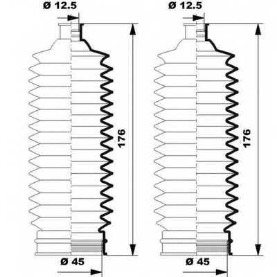 Комплект пылника рулевого управления MOOG K150251 - изображение 1