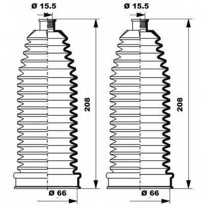 Комплект пылника рулевого управления MOOG K150252 - изображение 1