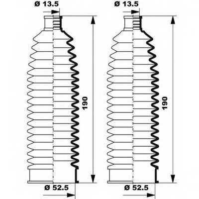 Комплект пылника рулевого управления MOOG K150254 - изображение 1