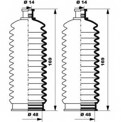 Комплект пылника рулевого управления MOOG K150263 - изображение 1