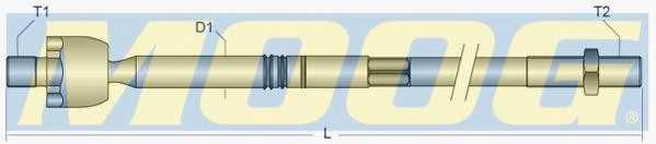 Осевой шарнир рулевой тяги MOOG NI-AX-1603 - изображение