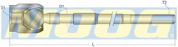 Осевой шарнир рулевой тяги MOOG OP-AX-7221 - изображение 1