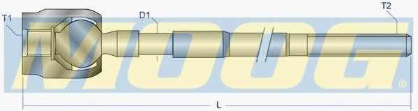 Осевой шарнир рулевой тяги MOOG OP-AX-7221 - изображение