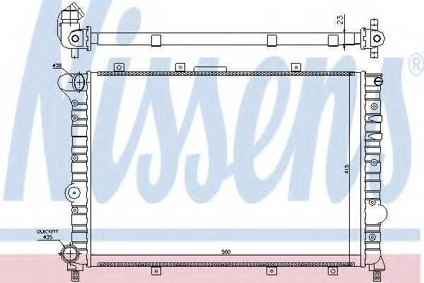 Радиатор охлаждения двигателя NISSENS 60041 - изображение