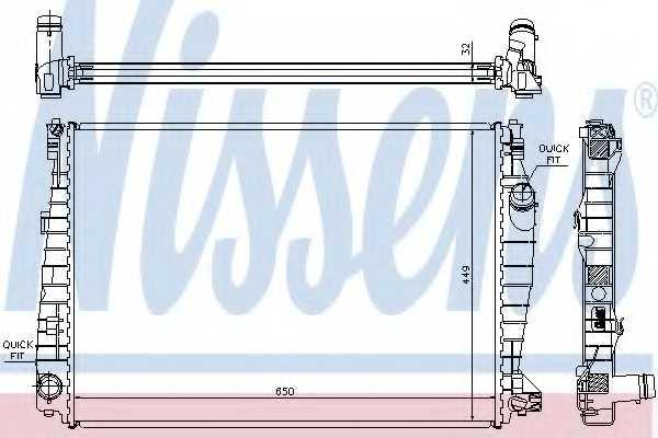 Радиатор охлаждения двигателя NISSENS 60061 - изображение