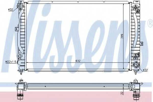 Радиатор охлаждения двигателя NISSENS 60228A - изображение