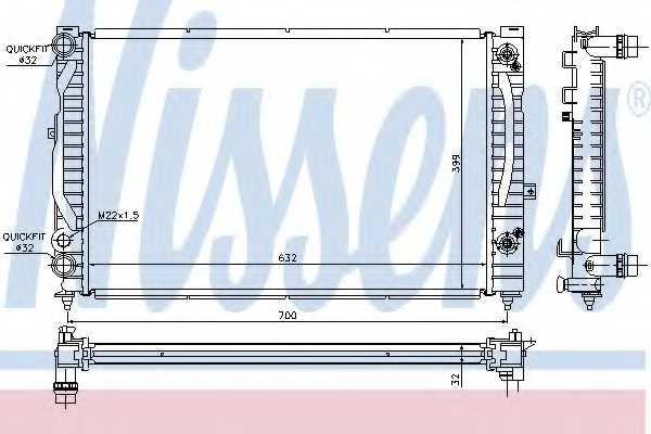 Радиатор охлаждения двигателя NISSENS 60229A - изображение