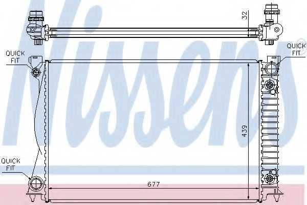 Радиатор охлаждения двигателя NISSENS 60233A - изображение